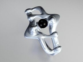 Twister ring in Polished Nickel Steel