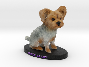 Custom Dog Figurine - Bailey in Full Color Sandstone