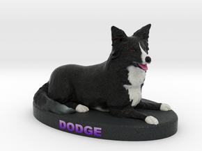 Custom Dog Figurine - Dodge in Full Color Sandstone