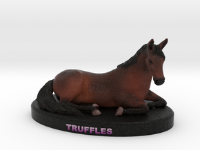 Custom Horse Figurine - Truffles in Full Color Sandstone