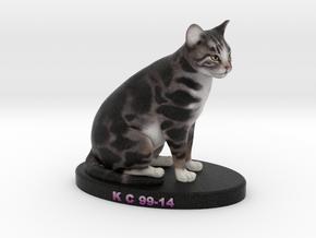 Custom Cat Figurine - KC Corman in Full Color Sandstone