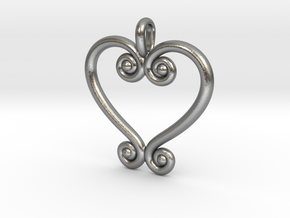 Swirling Love in Natural Silver