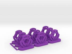 Energy Tokens in Purple Processed Versatile Plastic