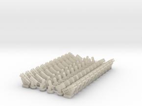 CIWS1 (x12)+CIWS2 (x12)+RAM (x24)+Harpoon (x24) in White Acrylic