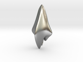 Space Shark, Pendant in Natural Silver