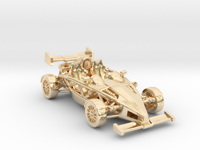"Atom HO scale model w/wings 1.7"" RHD in 14K Gold"