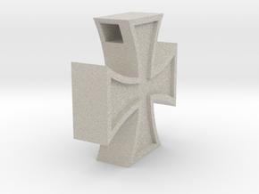 Iron Cross Pendant in Natural Sandstone