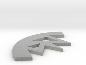 Earring in Metallic Plastic