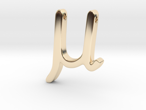 Mu in 14K Yellow Gold
