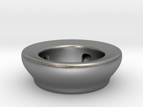 Fake Bowl  in Natural Silver