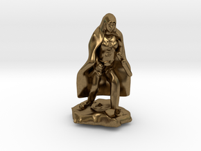 Halfling Rogue in Cape with two Daggers in Natural Bronze