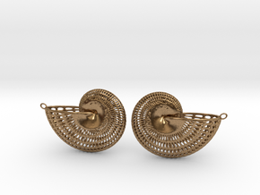 Nautilus Earring Pair (2 earrings) in Natural Brass