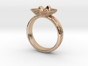 Eggring(size is = USA 5.5) in 14k Rose Gold