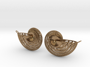 Nautilus Earring Pair (2) with attachment loop in Raw Brass