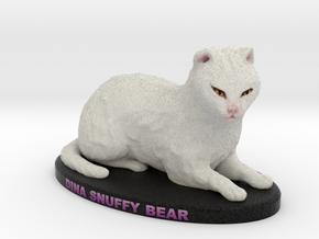 Custom Cat Figurine - Snuffy Bear in Full Color Sandstone