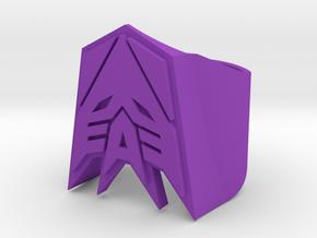 [Transformer] Decepticon Ring size #9 in Purple Processed Versatile Plastic