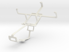 Controller mount for Xbox One & Kyocera Hydro C517 in White Natural Versatile Plastic