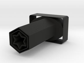 True Star Pencil Holder in Black Natural Versatile Plastic