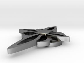 CE Cross III Upload To Shapeway in Fine Detail Polished Silver