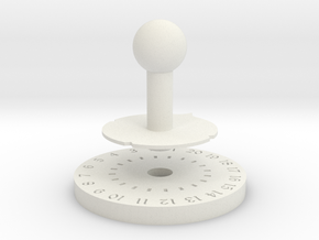 Life Counter in White Natural Versatile Plastic
