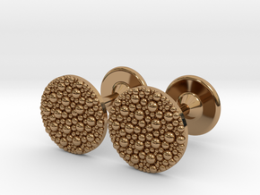 Granulated Cufflinks  in Polished Brass