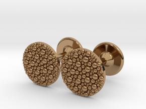 Granulated Cufflinks  in Polished Brass