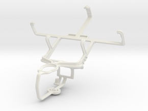 Controller mount for PS3 & Kyocera Rise C5155 in White Natural Versatile Plastic