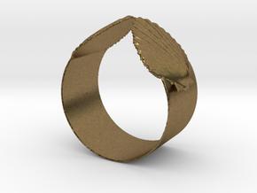 Napkin Scallop Ring in Natural Bronze