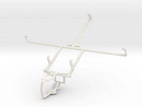 Controller mount for PS3 & Lenovo IdeaTab A2107 in White Natural Versatile Plastic