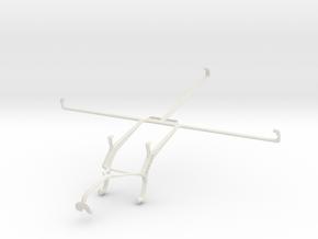 Controller mount for Xbox 360 & Lenovo IdeaTab S60 in White Natural Versatile Plastic