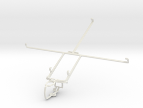 Controller mount for PS3 & Lenovo IdeaTab S6000L in White Natural Versatile Plastic