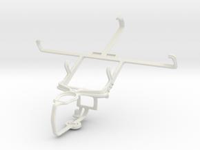 Controller mount for PS3 & Lenovo P780 in White Natural Versatile Plastic