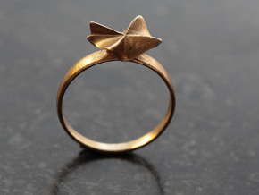 Flora Ring in Natural Brass