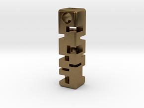 Tritium Holder Pendant - GLOW IN THE DARK! in Natural Bronze
