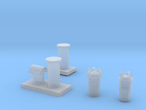 4 Chimneys 00 in Smooth Fine Detail Plastic