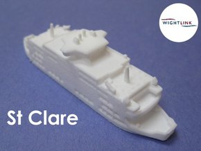MV St Clare (1:1200) in White Natural Versatile Plastic: 1:1200
