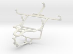Controller mount for PS4 & LG Lucid2 VS870 in White Natural Versatile Plastic