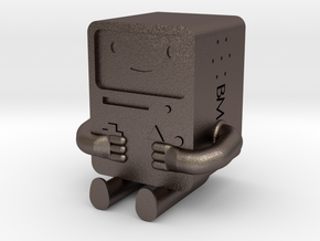 BMO is metal! in Polished Bronzed Silver Steel