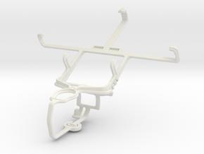 Controller mount for PS3 & LG Optimus 3D Cube SU87 in White Natural Versatile Plastic