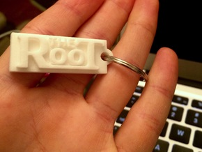 The Root - Bag Tag in White Natural Versatile Plastic