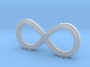 Infinity Sign in Smooth Fine Detail Plastic