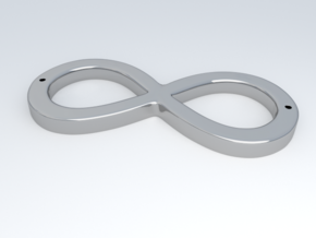 Infinity Sign in Metallic Plastic
