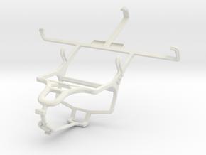 Controller mount for PS4 & LG Optimus GJ E975W in White Natural Versatile Plastic