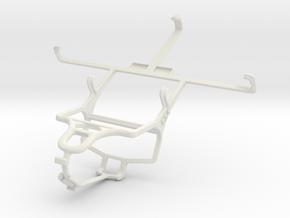 Controller mount for PS4 & LG Optimus G Pro E985 in White Natural Versatile Plastic