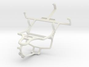 Controller mount for PS4 & LG Optimus L3 E400 in White Natural Versatile Plastic