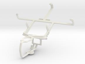 Controller mount for PS3 & LG Optimus L7 II Dual P in White Natural Versatile Plastic