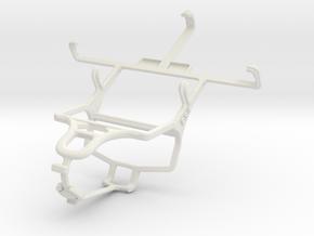 Controller mount for PS4 & LG Optimus L5 II E460 in White Natural Versatile Plastic