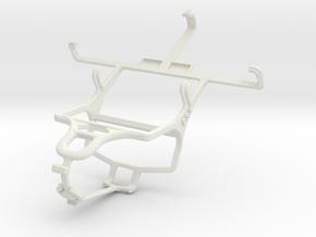 Controller mount for PS4 & LG Optimus L5 II Dual E in White Natural Versatile Plastic