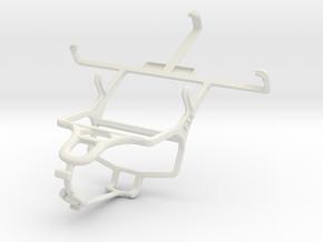 Controller mount for PS4 & LG Optimus L7 II Dual P in White Natural Versatile Plastic