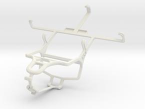 Controller mount for PS4 & LG Optimus L9 P760 in White Natural Versatile Plastic